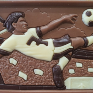 Plaque de chocolat football